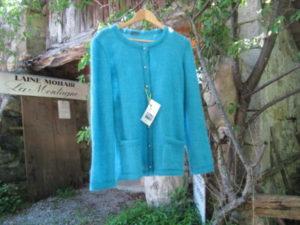 gilet couture mohair soie